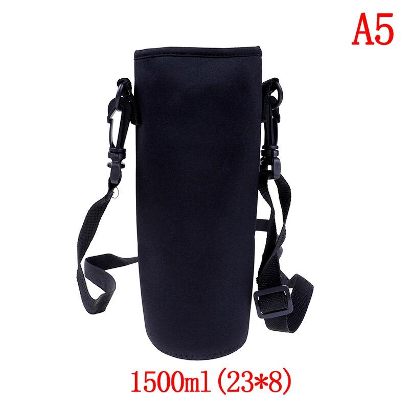 420-1500 мл оболочка для бутылки сумка ж/неопреновый ремень сумка для воды держатель плечевой ремень черная бутылка сумка - Цвет: A5