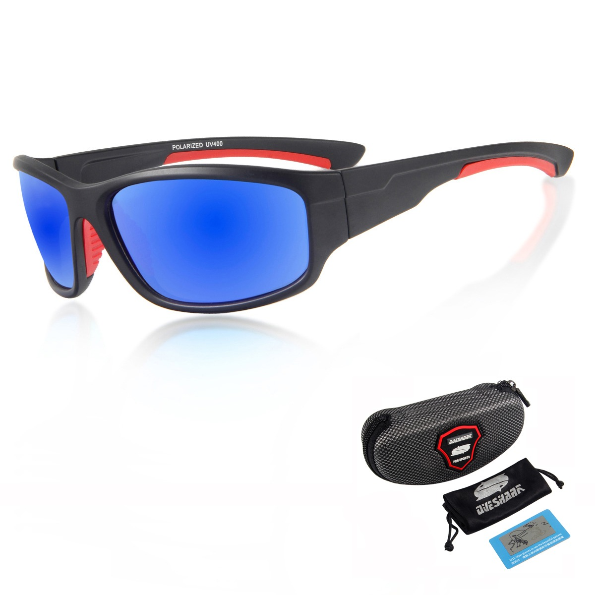 d153a83eb Polarizada Óculos De Sol De Pesca TR90 QUESHARK Quadro Leve de Acampamento  Caminhadas Pescador Uv400 Glassess
