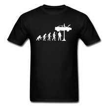 Evolution Of Man And Mechanic Printed On Tshirts 100% Cotton Mens Summer Tops & Tees Brand O Neck T-shirts Short Sleeve