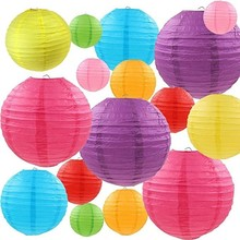 20colors (set Of 5)  8,12 Chinese Paper Lantern Hanging Decorative For Marriage Wedding Festival Party Decoration