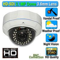 CCTV 2MP 1080P Panasonic CMOS HD SDI Vandalproof Dome Security Camera 3 6mm Lens Night Vision