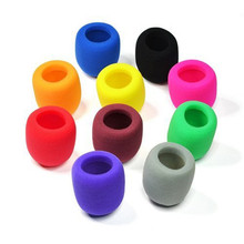 Best 10PC/Lot Colors Handheld Stage Microphone Windscreen Foam Mic Cover For Karaoke Free Shipping NOM10