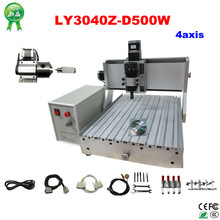 3D woodworking machine LY 3040Z-D 500W 4axis spindle with ball screw mini cnc milling machine