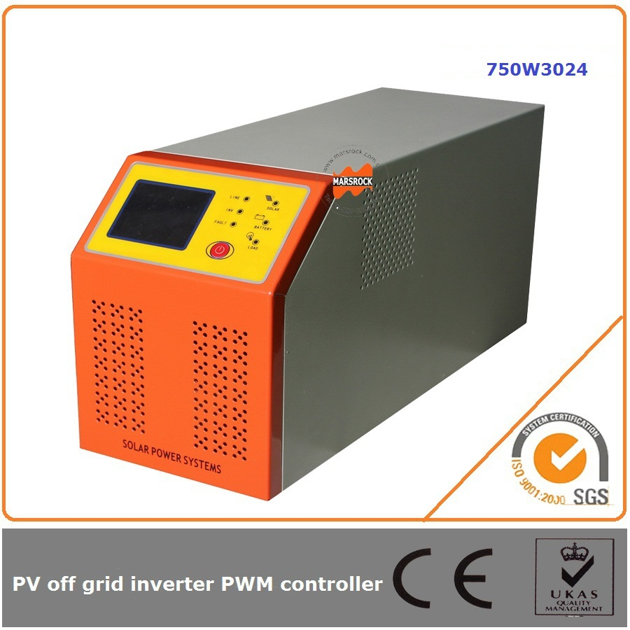 750W 24V 30A solar power inverter with controller off grid intelligent sine wave output and adapts to all kinds of loads 750w 24v 10a solar inverter with controller can resist impact of large current starting loads ce iso approved