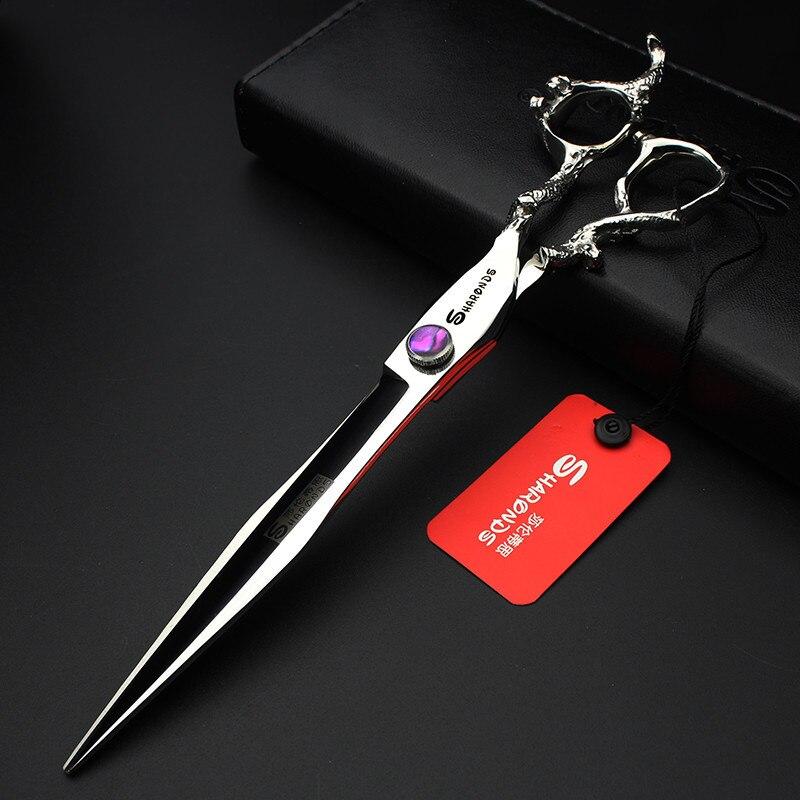 ФОТО Professional hairdressing scissors 7 & 8 inch high - grade salon hair styling scissors Japan 440c steel barber scissors
