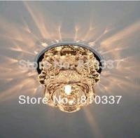 Новый Современные хрустальные светодиодный потолочный светильник лампа Освещение цветок