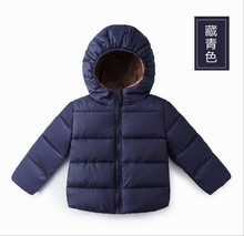 2016 new winter Korean casual pure color boys and girls coat