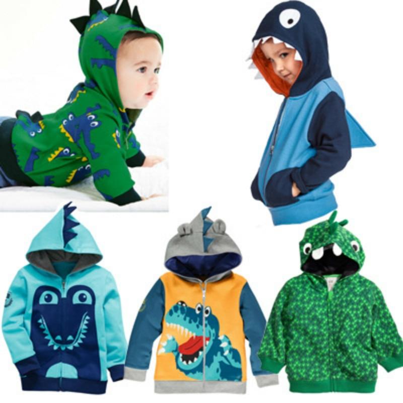 Boys Animal Hoodies Kids Spring Autumn Clothes Dinosaur Zipper Coat Children Fashion Sweatshirt 2-6 Years Baby boys Clothing 2
