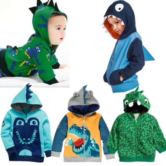 Boys Animal Hoodies Kids Spring Autumn Clothes Dinosaur Zipper Coat Children Fashion Sweatshirt 2-6 Years Baby boys Clothing