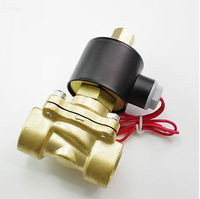 220VAC Water Air Oil Brass NC Electric Solenoid Valve 1 1/4 inch x 1