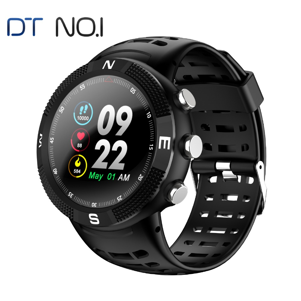 NO.1 F18 GPS Smartwatch Android IOS Heart rate IP68 GPS Glonass Smartwatch 1.3 inches Touch Screen Sapphire rugged sport watch