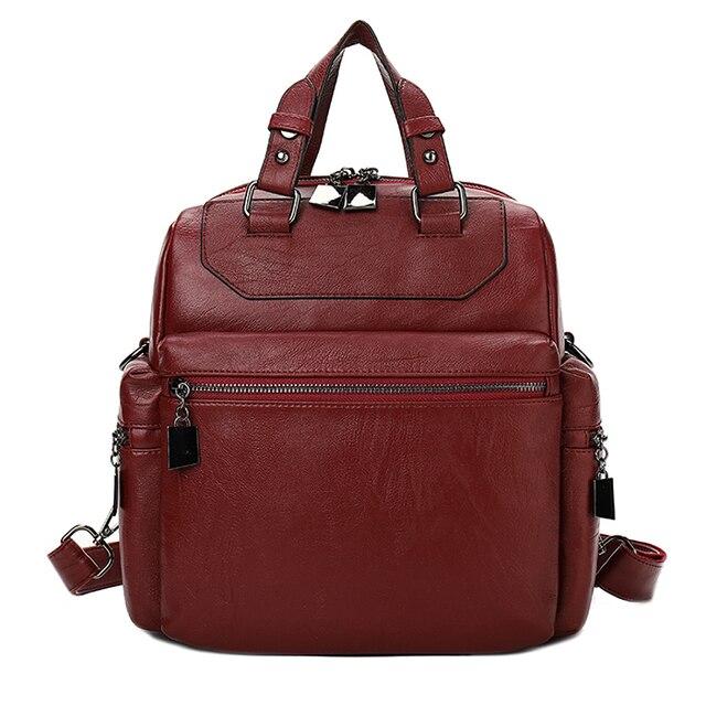 a37597693ee5 YILIAN fashion Leisure PU knapsack 2018 women s double shoulder bag backpack  multi pocket 1928