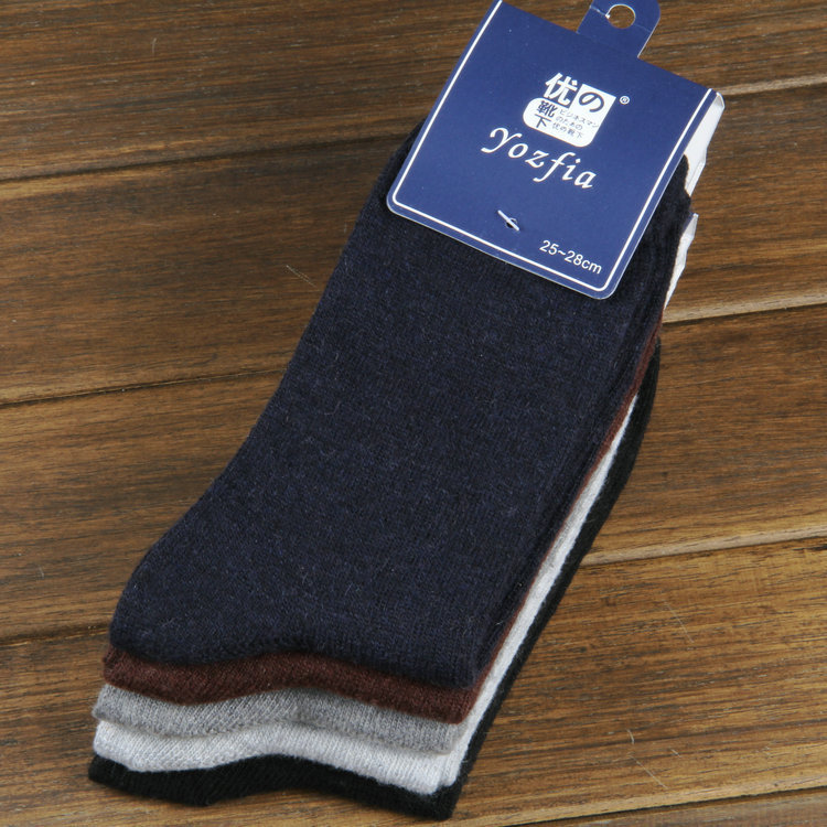 10 pieces of 5pairs 2019 NEW winter warm socks man The rabbit wool socks Men socks to Arrow pure color the extended wool socks