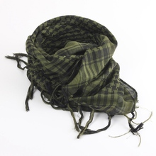 New 100x100cm Tactical Arab Desert Shemagh Scarf Polyester Plaid Printed Scarf Wraps With Tassel Fashion For Men Women