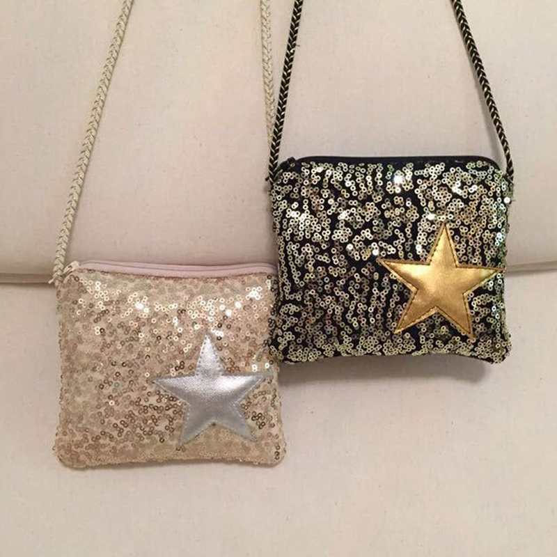 1PC Girls Small Sequins Coin Purse Change Wallet Kids Bag Coin Pouch Children's Star Wallet Money Holder Kids Gift