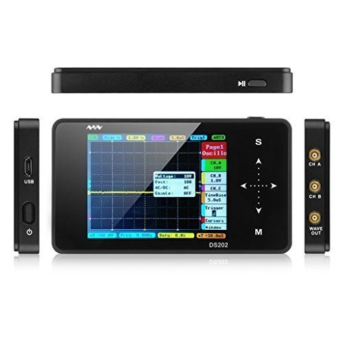 LIXF-Nano ARM DS202 Portable Mini Handheld Touch Screen Digital Storage Oscilloscope - 8MB Memory Storage 2MHz 10Mps - 2-Chann цена и фото