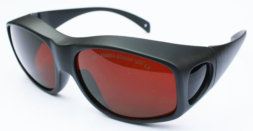 190-540nm & 800-1700nm laser safety glasses with O.D 6+ CE certified ce ep 1a 190 540
