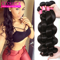 Naked Human Hair Brazilian Body Wave Virgin 3 Bundles 100% Genuine Human Hair 7A Brazilian Wavy Luxuriously Soft Bouncy