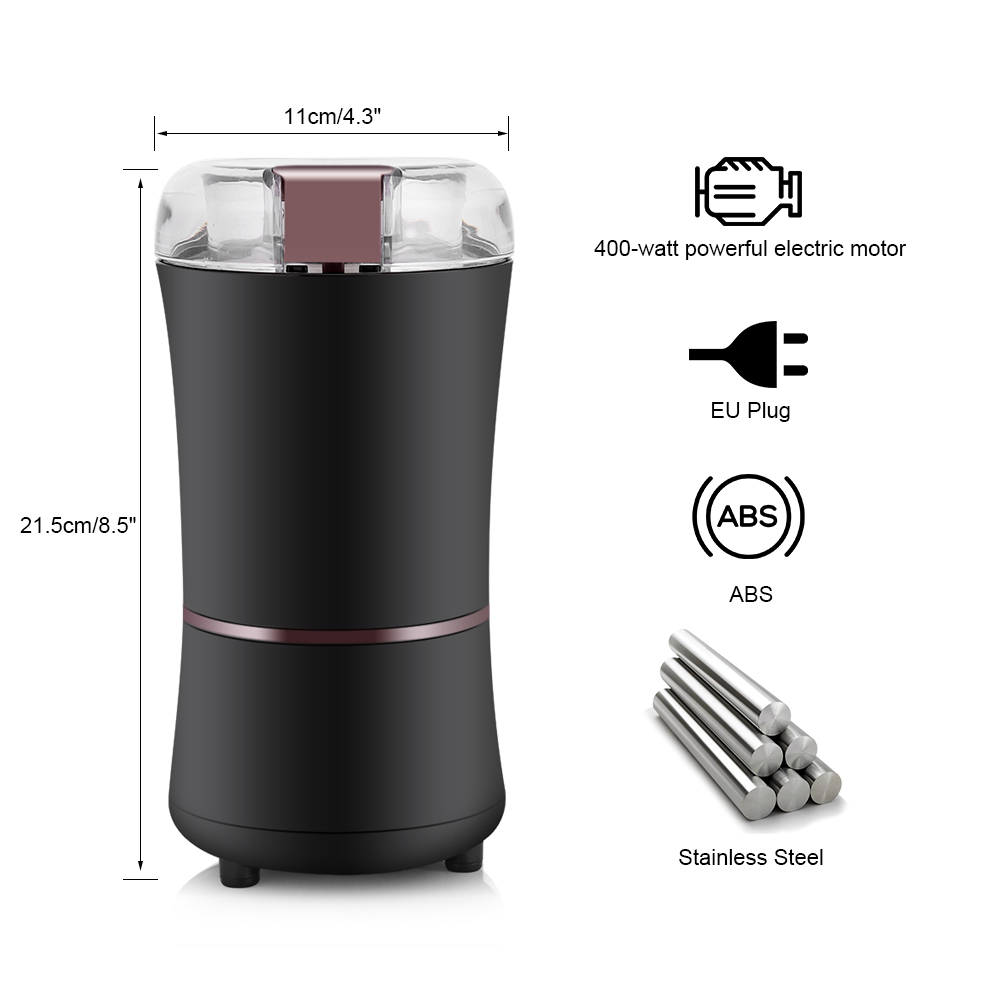 Kitchen Electric Metal Coffee Grinder 300W Mini Salt Pepper Grinder Powerful Spice Nuts Seeds Coffee Bean Grind Machine