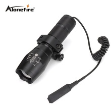 AloneFire G700 тактический охотничий пистолет вспышка светильник фонарь CREE светодиодный светильник масштабируемый Водонепроницаемый вспышка светильник+ крепление для прицела+ пульт дистанционного управления