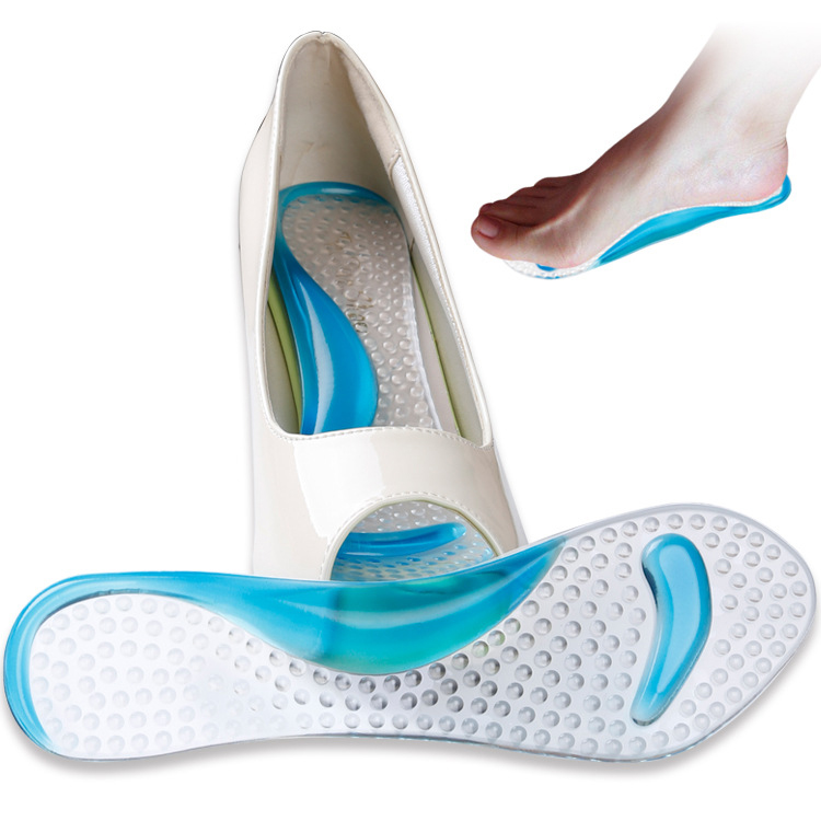 Feet Care Non-Slip Sandals High Heel Arch Cushion Support Silicone Gel Pads Shoes Insole Pain Relief Size 21*7cm *35
