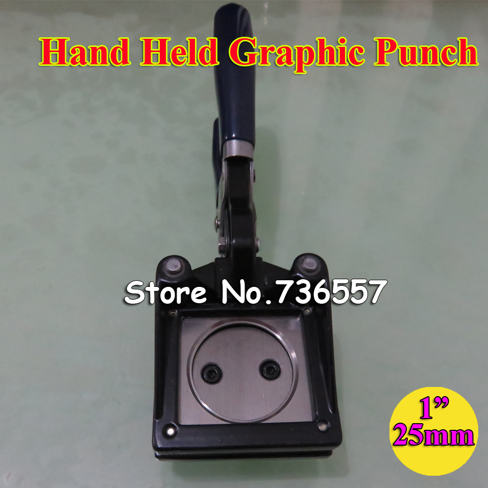 NEW Hand Held Manual Round 1 25mm Paper Graphic Punch Die Cutter for Pro Button Maker free shipping of 1pc alloy steel made right hand manual die 2 16 un die threading tools lathe model engineer thread maker