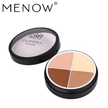 makeup eyes cosmeticos  bb glow MENOW Menor Foundation Cream Four-Color Concealer