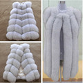 hot new 2016 100% natural fox fur long vest  Real Fox fur vest luxury  fur jacket Winter waistcoat women' s coat long style