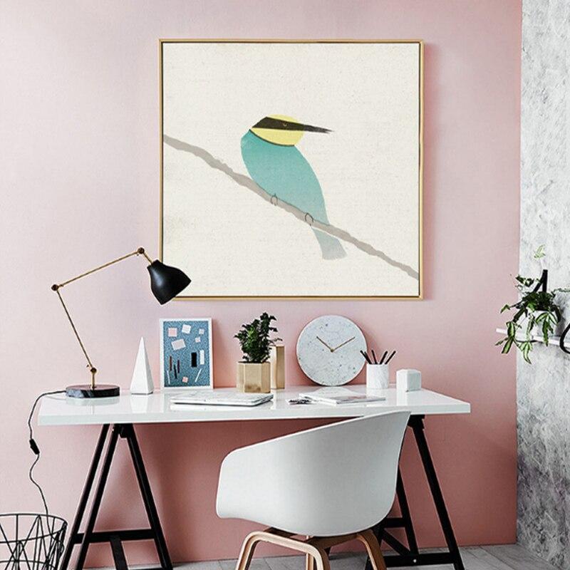 Emin hayat sevimli kuşlar robin arı kuşu tuval boyama posterler ve - Ev Dekoru - Fotoğraf 3