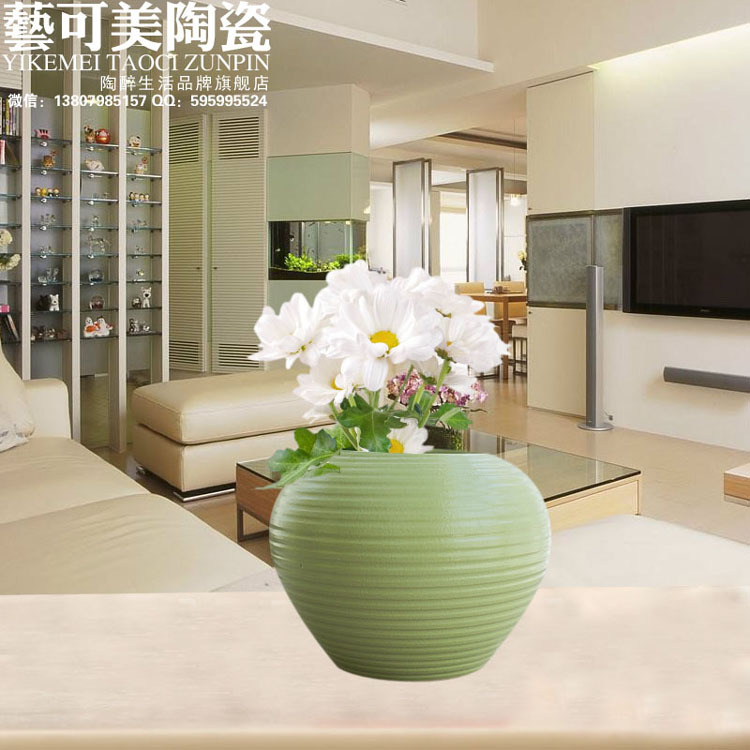 Aliexpress.com : Buy Ceramic Vases Simple Modern Living Room Table Green  Vase Three Piece Home Furnishing Decor Ceramic Ornaments Floral Wedding  Gift From ... Part 63