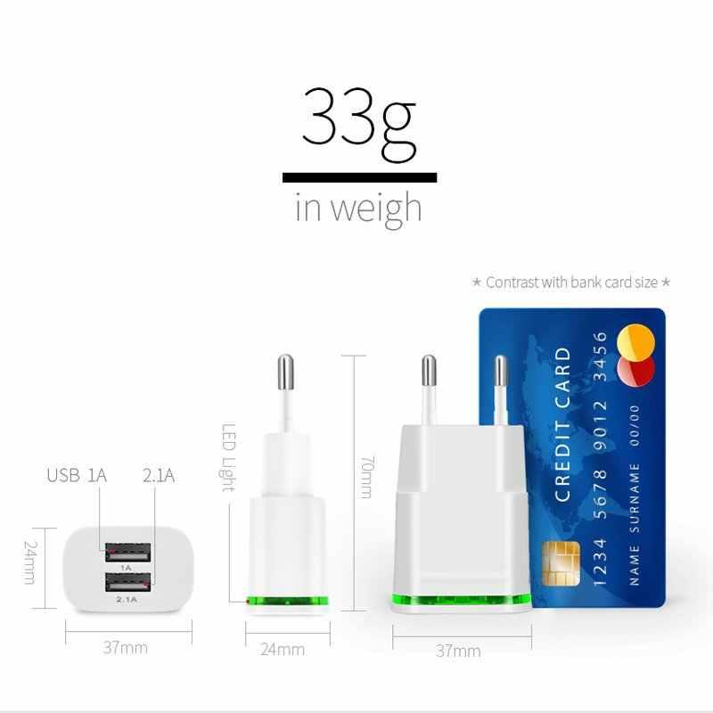 Настенное зарядное устройство ЕС вилка США адаптер 2 порта двойной USB 5 V/2.1A быстрое зарядное устройство для путешествий для Huawei Honor 6C Pro 7C P Smart 7A 6A 7X 6X 5C