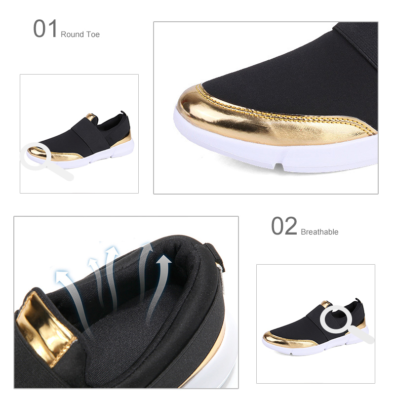 HTB1DnoRafQypeRjt bXq6yZuXXaQ Spring Autumn Women Slip On Loafers Ladies Casual Comfortable Flats Female Breathable Stretch Cloth Shoes Fashion Zapatillas