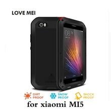 Любовь Мэй для xiaomi MI5 M5 дело жизнь Водонепроницаемый противоударный пылезащитный броня Тонкий верхний для xiaomi MI Телефон случаях Gorill стекла