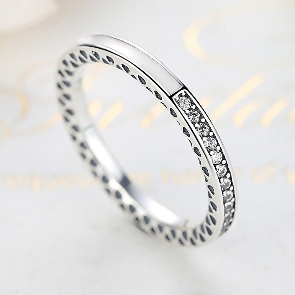 ELESHE Orijinal 100% 925 Ayar Gümüş Parmak Yüzük Kadınlar Için - Kostüm mücevherat - Fotoğraf 4