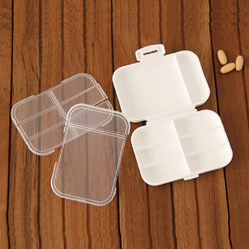 Портативный многослойные таблетки организатор бокс 8 отсек таблетки футляр для хранения влагостойкий держатель таблетки медицина коробка 11 * 7,5 * 3 см
