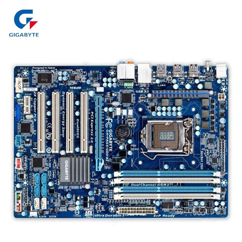 Gigabyte GA-PA65-UD3-B3 Original Used Desktop Motherboard PA65-UD3-B3 H61 LGA 1155 i3 i5 i7 DDR3 16G ATX gigabyte ga p61 usb3 b3 original used desktop motherboard p61 usb3 b3 h61 lga 1155 i3 i5 i7 ddr3 16g atx