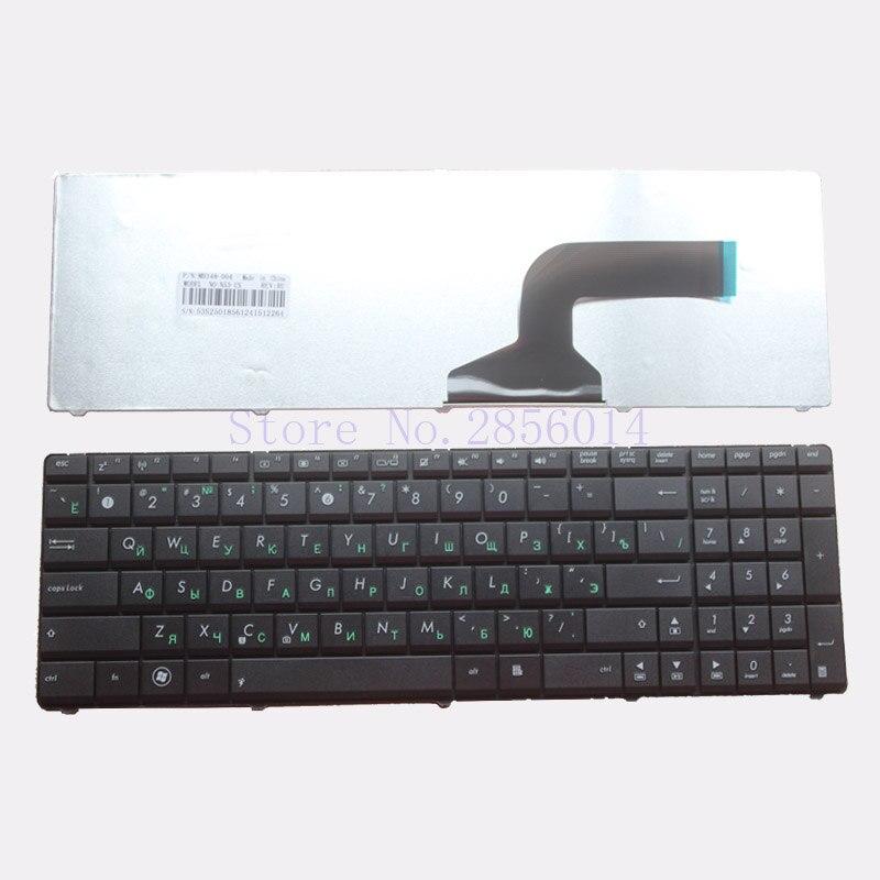 Teclado ruso portátil para ASUS N70 N70S N73 N73J N73JF N73JG N73JN N73JQ N73SM N73SV N51T N53SV N51V N53JQ N53S n53NB RU negro