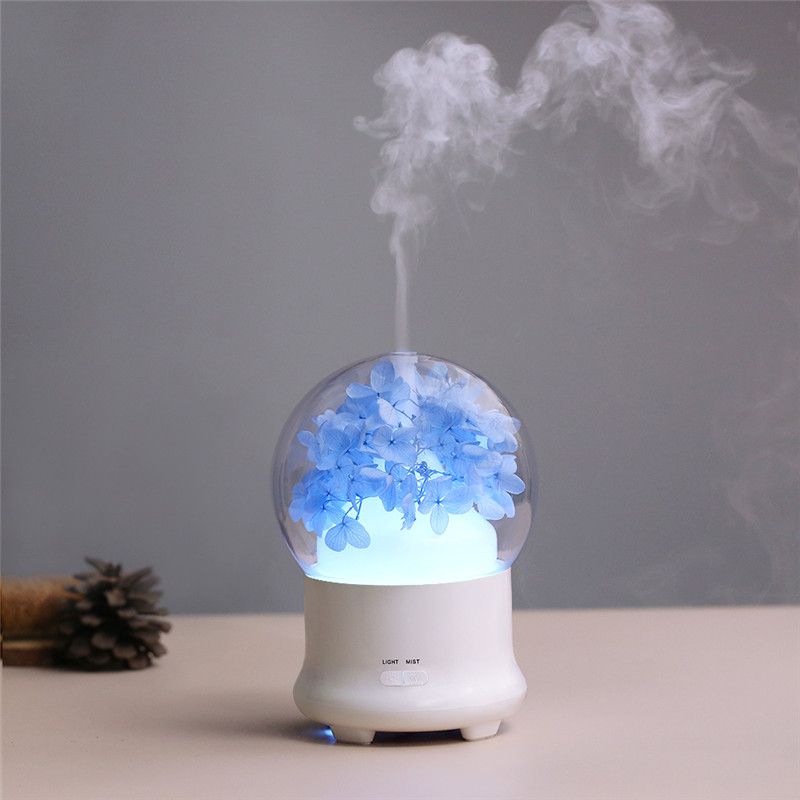 BOMEINENG Flower Aroma Diffuser for Home Office Ultrasonic Air Humidifier Essential Oil Aromatherapy Humidifiers with Warm Lamp