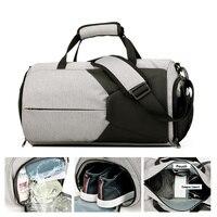 High Capacity Dry Wet Men Gym Bag Sport Bags for Women Fitness Sport Shoe Bag Travelling Shoulder Bags Yoga Handbag Sac De Black