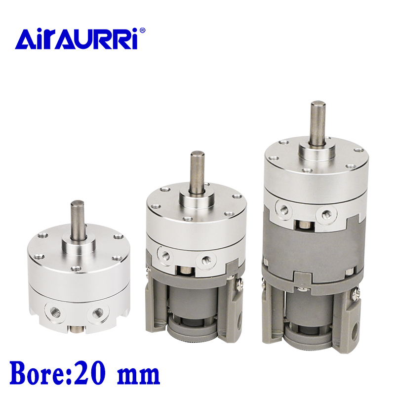Rotary Cylinder Single vane size 20 CRB2BW/CDRB2BW/CDRB2BWU 90 180 270 Rotating angle Double shaft pneumatic rotary actuator image