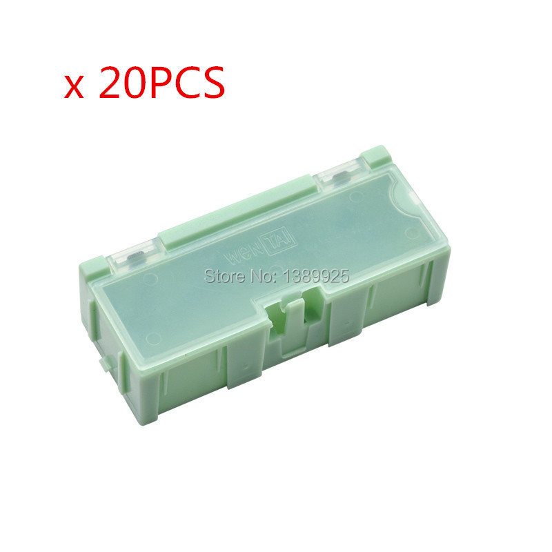 Wholesale 20pcs/lot  #2 Green Capacitor Resistor SMT Electronic Component Mini Storage box Practical Jewelry Storaged Case