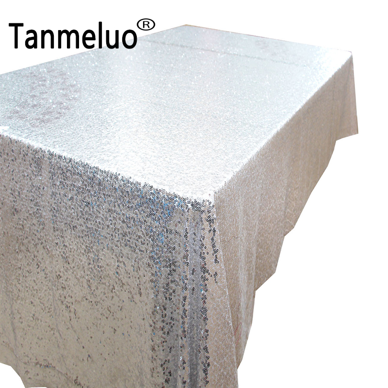 120*180CM Rectangle sequin tablecloth wedding event party silver gold black gliter table cloth cover for home decoration