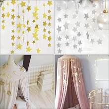 Mosquito Net Hanging Decoration Gold Silver Sparkling Stars baby room decor Children's Rooms Walls Decor baby bed(China)