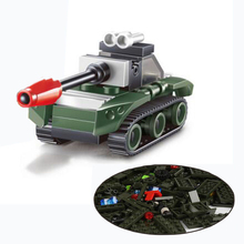 1Pcs Baby Kids Small Military Tank Action Toy Assembling Plastic Blocks Educational Toys
