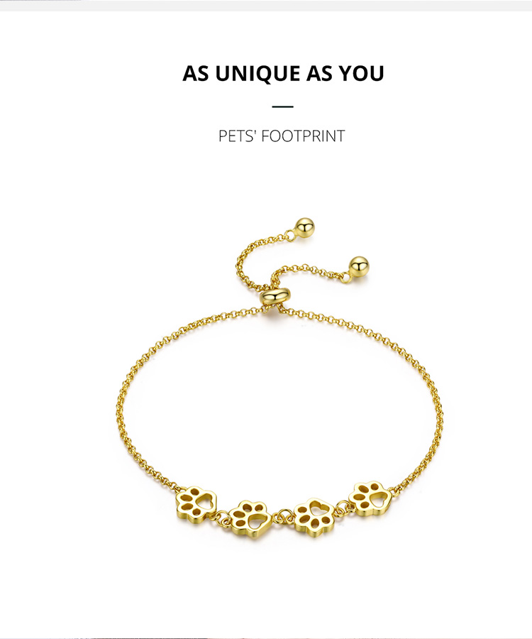 HTB1DnpEaUT1gK0jSZFhq6yAtVXaT BAMOER New Arrival Genuine 925 Sterling Silver Animal Footprints Chain Bracelets for Women Valentines Day Jewelry Gift SCB096