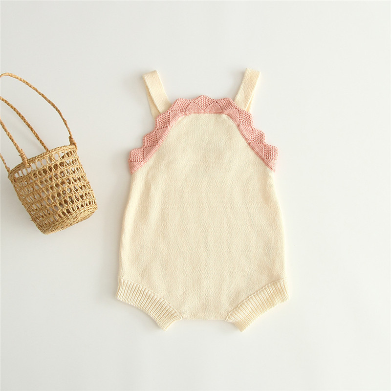 Baby Girls Clothes Autumn Baby Knitted Romper Infant Clothing Baby Girl Overalls Cute Sweater New Design Baby Jumpsuit For Girls(China)