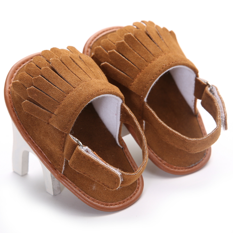 Hot Sale Baby Sandals Summer Leisure Fashion Baby Girls Sandals of Children PU Tassel Clogs Shoes 16 Colors