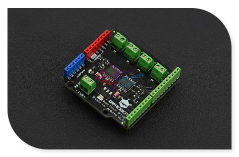 DFRobot 100 Genuine Quad DC Motor Driver Shield 2 5 13 5V 4x1 2A compatible with