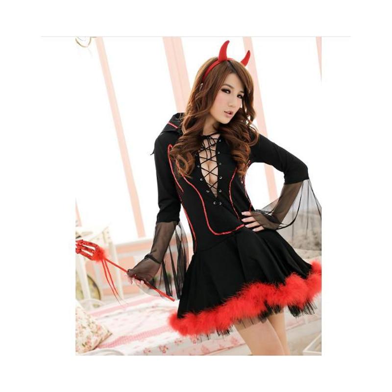 HALLOWEEN HORROR SCARY RED /& BLACK DEVIL HORNS Ladies Fancy Dress Accessories