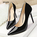 Shoes Woman High Heel Pumps Sexy Black High Heels Pointed Toe Women Shoes Brand Patent Leather Wedding Shoes For Women 740-3